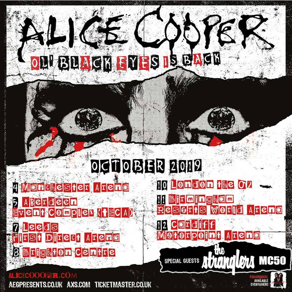 Alice Cooper UK Tour 2019
